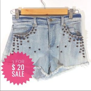 High waisted shorts with studs Sz 5